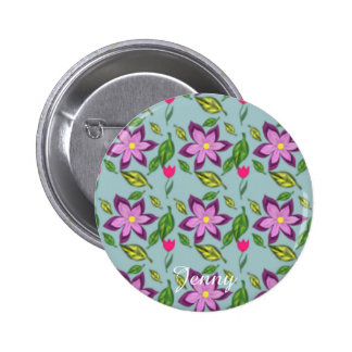 Spring Flowers, Button