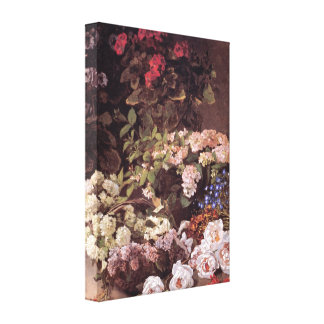 Spring Flowers by Claude Monet Stretched Canvas Print