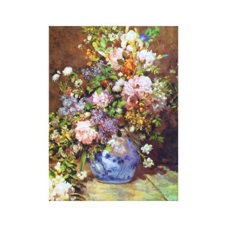 Spring Flowers by Renoir Stretched Canvas Prints