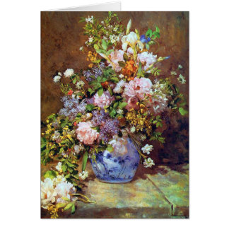 Spring Flowers by Renoir Card