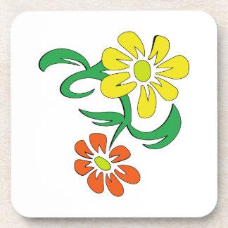 SPRING FLOWERS BEVERAGE COASTERS