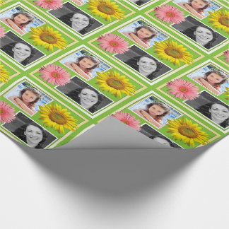Spring Flowers Double Photo Personal Gift Wrap