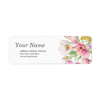 spring flowers floral  return address stickers