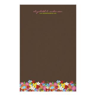 Spring Flowers Garden Custom Stationery Paper