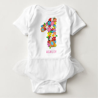 Spring Flowers Garden One Girl 1st Birthday Party Tees