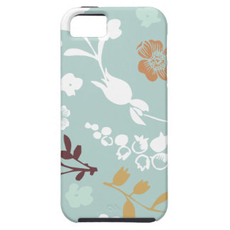 Spring flowers girly mod chic blue floral pattern case for the iPhone 5