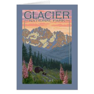 Spring Flowers - Glacier National Park, MT Card