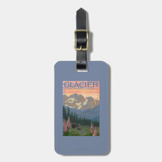 Spring Flowers - Glacier National Park, MT Luggage Tag