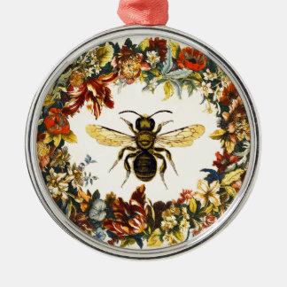 SPRING FLOWERS HONEY BEE / BEEKEEPER CHRISTMAS TREE ORNAMENT