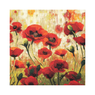 Spring Flowers in a Garden Stretched Canvas Print