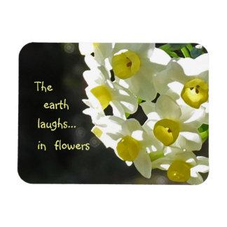 Spring Flowers Laughing Earth Rectangular Magnet
