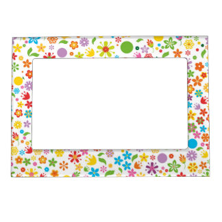 Spring Flowers Magnetic Picture Frame
