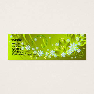spring flowers mini business card