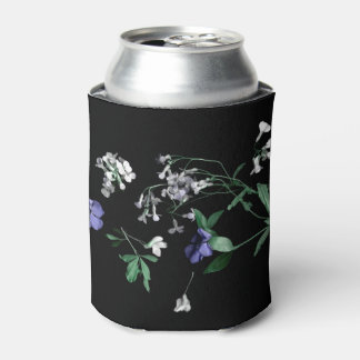 Spring flowers on black Can Cooler