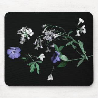 Spring flowers on black Mousepad