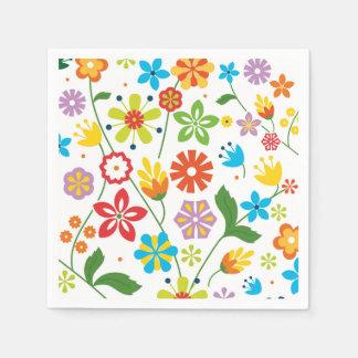 Spring Flowers Paper Napkin