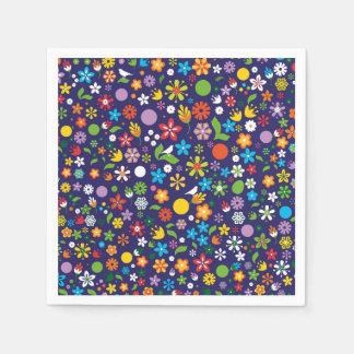 Spring Flowers Paper Napkins