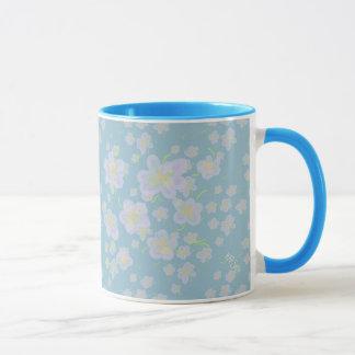 Spring Flowers (purple/aqua) Mug