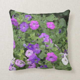 Spring Flowers Purple Petunia Flowers Floral Cool Throw Pillow
