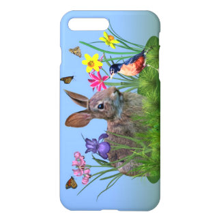 Spring Flowers, Robin, and Bunny Rabbit iPhone 7 Plus Case