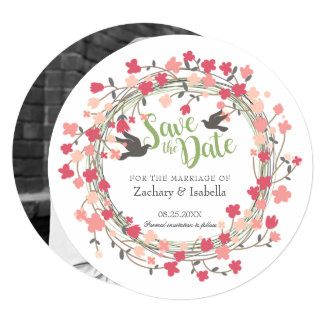 Spring Flowers Save the Date Invitation