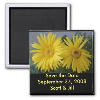 "Spring Flowers ""Save the Date"" Magnet"