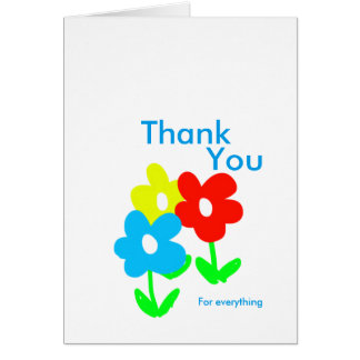 Spring flowers thank you for everything card