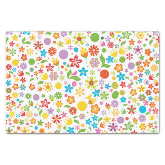 Spring Flowers Tissue Paper