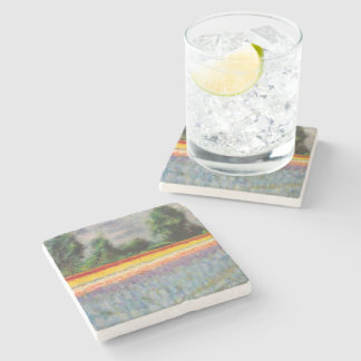 Spring Flowers Triptych image 1 of 3 Stone Beverage Coaster