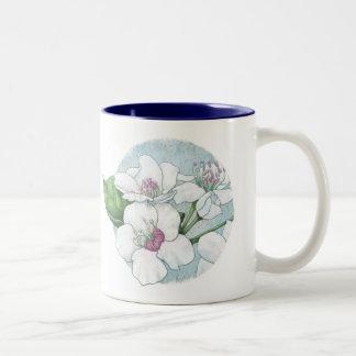 spring flowers Two-Tone coffee mug
