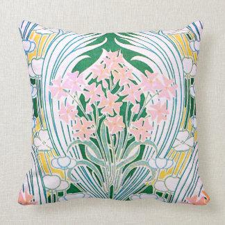Spring Flowers Vintage Art Nouveau Fine Art Throw Pillow