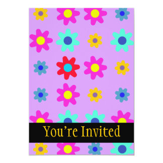 Spring Flowers Vivid Colours 13 Cm X 18 Cm Invitation Card