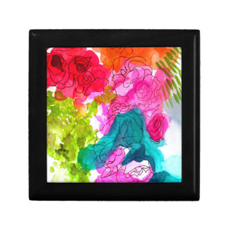 Spring Flowers watercolour abstract art Gift Box