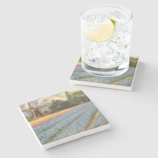 Spring Flowers Windmill Triptych image 2 of 3 Stone Beverage Coaster