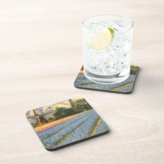 Spring Flowers Windmill Triptych picture 2 of 3 Drink Coaster