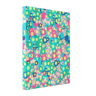 Spring Flowers with Blue Sky Gallery Wrapped Canvas