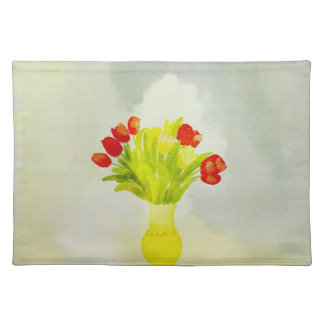spring flowers yellow vase American MoJo Placemats
