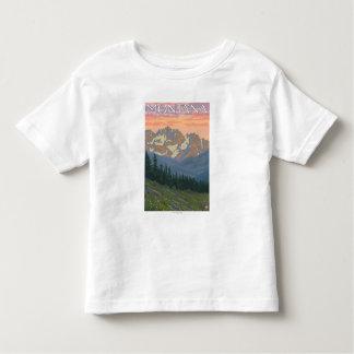 Spring FlowersMontanaVintage Travel Poster Toddler T-Shirt