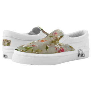 Spring Flwr Custom Zipz Slip On Shoes,Men & Women Printed Shoes