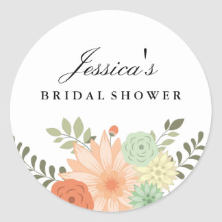 Spring Foliage Bridal Shower Sticker