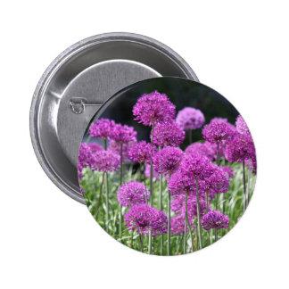 Spring Forest Purple Flowers of Garlic Pins
