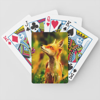 Spring Fox Bicycle Playing Cards