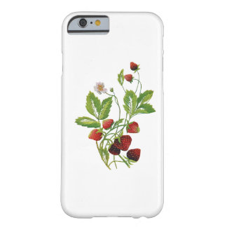 Spring Fresh Strawberries Embroidery Barely There iPhone 6 Case