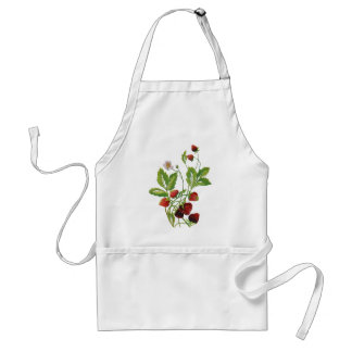Spring Fresh Strawberries Embroidery Standard Apron