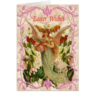 Spring Garden Angel Easter Card
