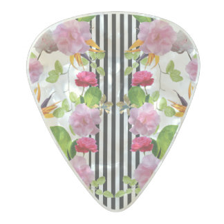 Spring Garden by Artist Zala02Creations Pearl Celluloid Guitar Pick