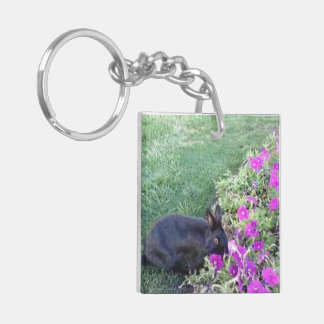 Spring Garden Square Acrylic Keychain