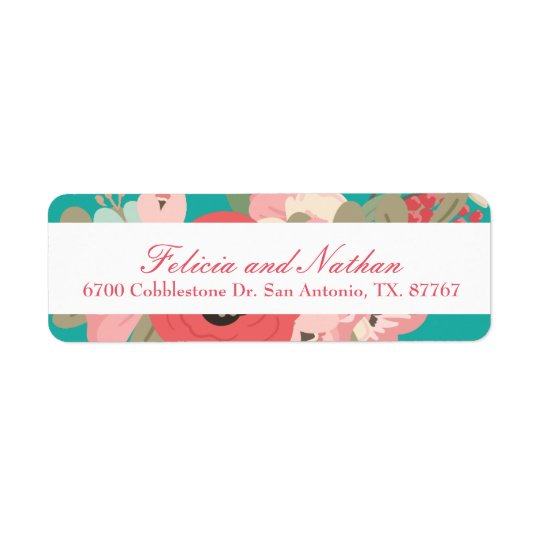 Spring Garden Pastel Return Address Label