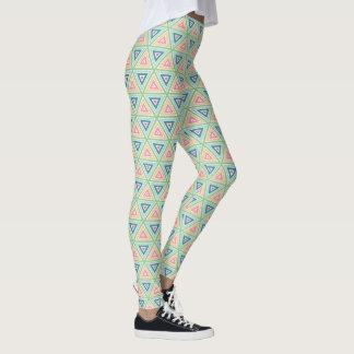 Spring Geometric Triangle Print Leggings