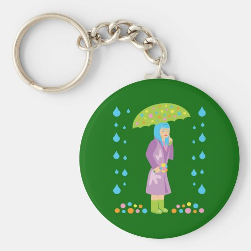Spring Girl Key Chains